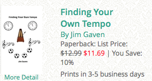 finding your own tempo