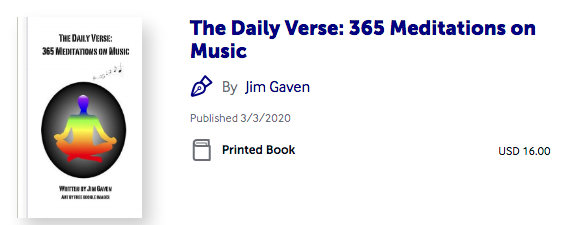 The Daily Verse - 365 Meditations on Music